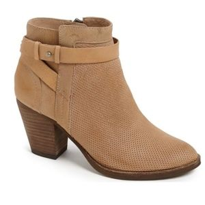 Dolce Vita perforated Yuri strappy heeled booties